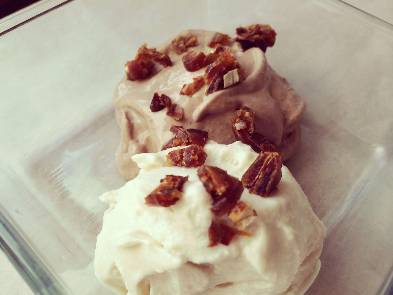 Vanilková a čokoládová zmrzlina