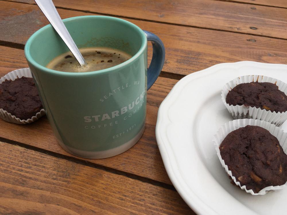 Čokoládové muffiny s tekvicou