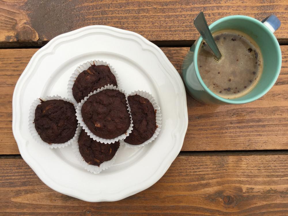Karobové muffiny s cukinou