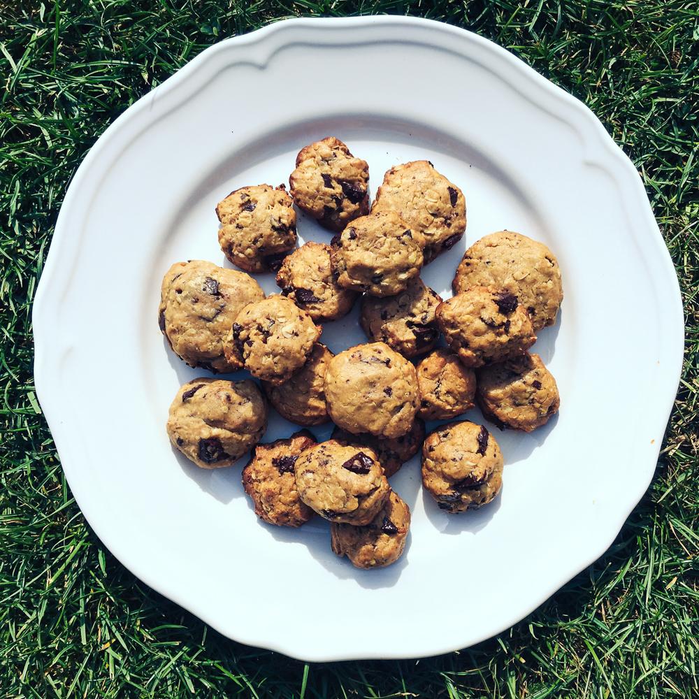 Mini cookies s kúskami čokolády