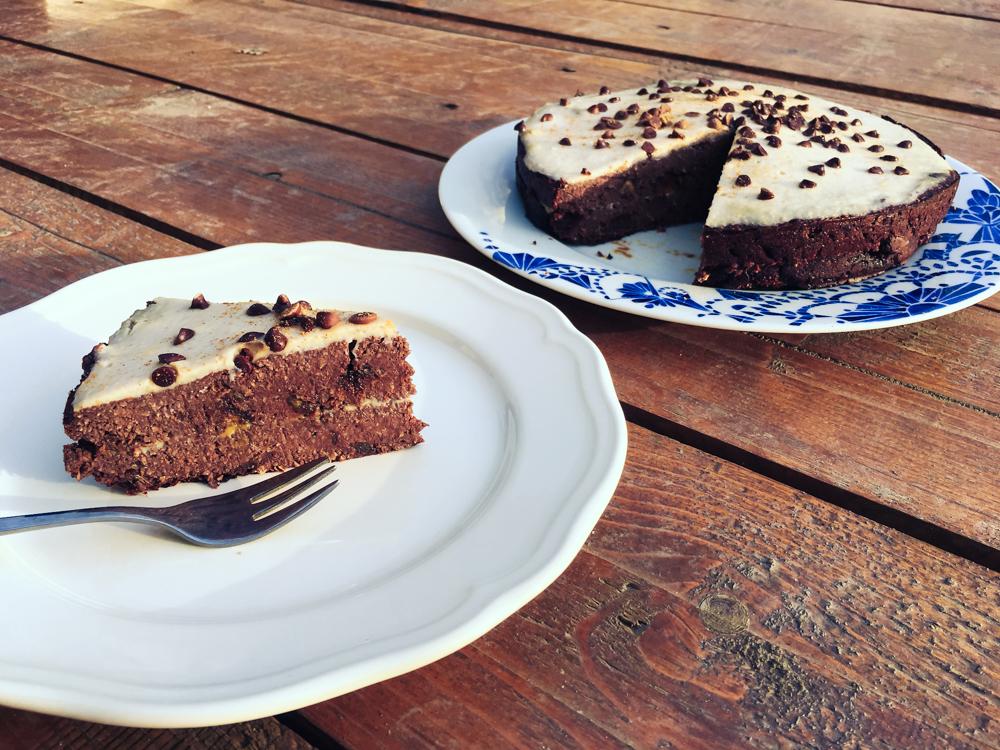 Čokoládová torta s kokosom, bez múky, bez oleja (bez cukru)