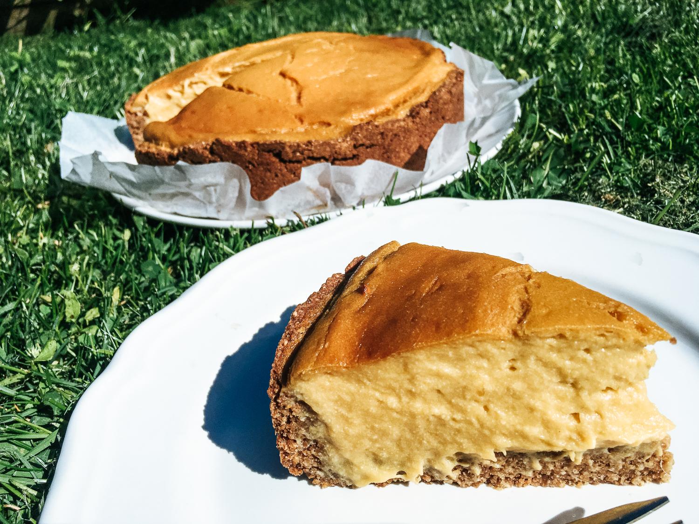 Mangový pečený cheesecake bez múky, bez oleja,bez cukru