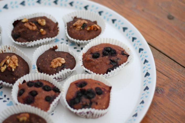 Čučoriedkovo-banánové muffiny