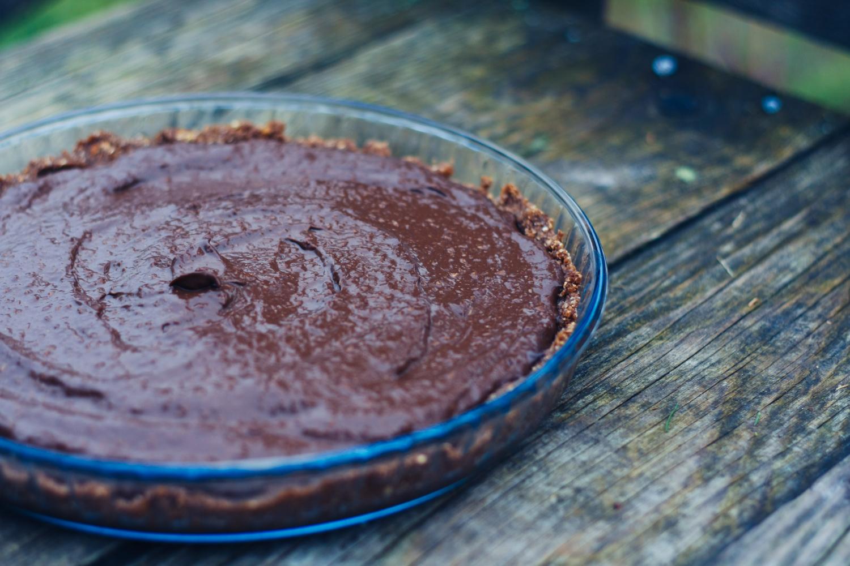 Nepečená torta s avokádovo polevou