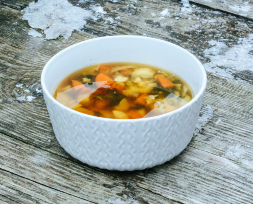 Zeleninová miso polievka
