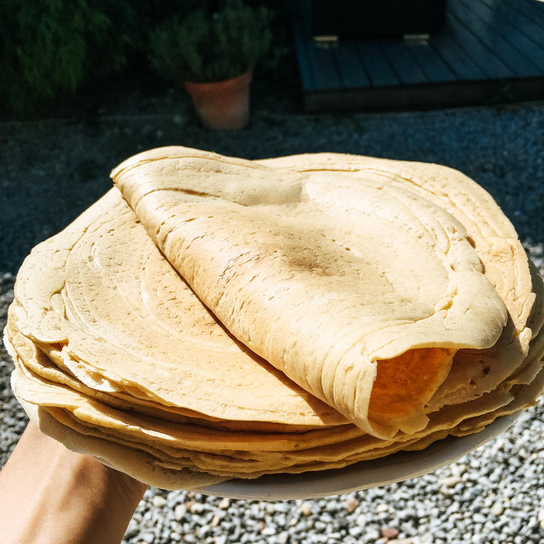 Bezlepkové tortilly len z 3 prísad
