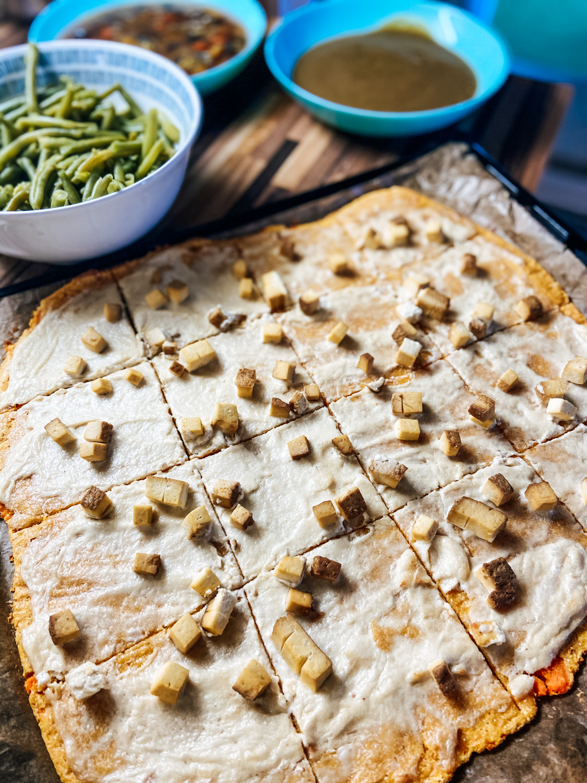 Cesto na pizzu zo sladkých zemiakov (bezlepkové)