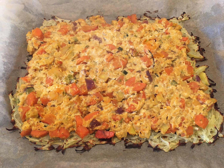 Bezlepkový vegan quiche