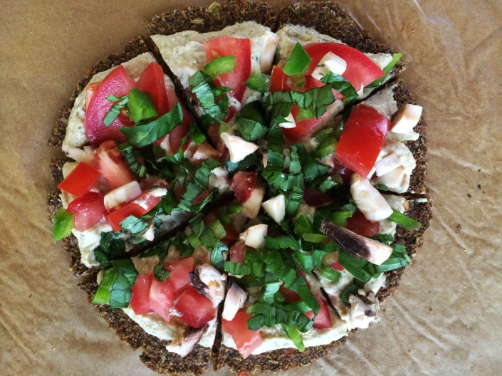 Raw vegánska pizza
